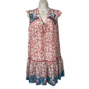 Tolani Silk Dress Babydoll Summer Country